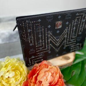 MCM Bags - MCM medium Stark studded clutch pouch